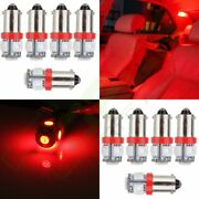10x T11 Ba9s T4w 5050 5smd Led Red Interior Light Bulbs 12v Wedge Side Lamp H6w