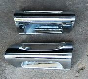 1958 Cadillac Front Seat Back Pull / Grab Handle Bars Chrome Used Orig 57 58