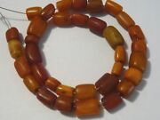 Antique Middle Eastern Amber Beads