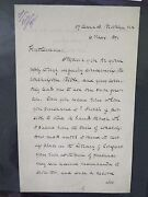 George Washington Bible Related - 1891 - Autograph Letter Signed