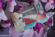 Singapore Starbucks Card Sleeve Gift 2015 Sample Cards New Blue City Collector A