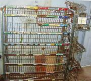Vintage Tall Store Wire Display Selling Candy-gum With 2 Other Racks Attached