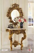 French Rococo Style 17c Madame Antoinette 35 Wall Console Table And Mirror Set