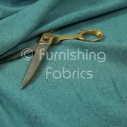 10 Metres Of Plain Heritage Soft Chenille Upholstery Furnishing Teal Blue Fabric