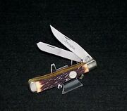 Remington R12 Knife Stag Appearance Trapper 4-1/8 1990and039s No Packaging Usa Made