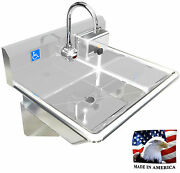 Ada 1 Station 24 Hand Wash Sink Electronic Faucet Hands Free. Made In America