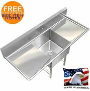 Pot Sink Heavy Duty Stainless Steel 16ga 1 Tub 54x24 Nsf Made In Usa