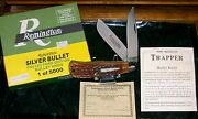 Remington R1128 Knife Bone Stag Silver Bullet Trapper 3004 W/packaging,papers