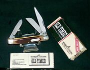 Schrade 34ot Knife 1990and039s Old Timer Middleman 3-5/16 Usa W/packagingpapers