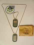 Us Army Dog Tag Dog Tags With Silencer Bw Chain Tag