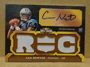 11 2011 Topps Triple Threads Pigskin Cam Newton Jsy Patch Auto Rc 'd 1/1 1 Of 1