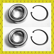 Front Wheel Hub Bearing W/snap For Toyota Lexus Ford Mazda Lincoln Pair