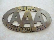 Vintage Aaa Utica Ny Car Badge For Ford Chev Chrysler Dodge Buick Pontiac