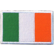 Ireland Flag Eire Flag Irl Flag Irish Flag Badge 3d Army Embroidered Hook Patch