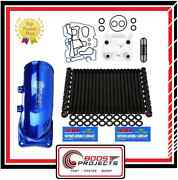 Arp Head Stud And Sinister Oil Cooler Kitandintake Elbow For Ford 6.0l Powerstroke