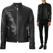 ★giacca Giubbotto Uomo In Di Pelle 100 Men Leather Jacket Veste Homme Cuir R50b