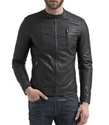 ★giacca Giubbotto Uomo In Di Pelle 100 Men Leather Jacket Veste Homme Cuir R66d