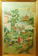 A3-065. Court Scene Imperial China. Painting On Paper. China. Principle S. Xx.
