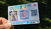 Customize Emotional Support Therapy Service Dog Id Card Esa Badge Tag