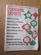1970 Consumer Reports Magazine November Issue Kiddie Cars And Tractors Am Clock
