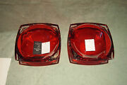 Waterford Rare Pair Ruby Metra 10 Vintage Bowls With Boxes And Papers