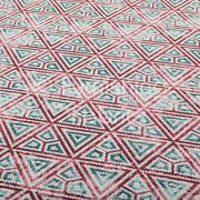 10 Metres Of Pink White Blue Geometric Jacquard Woven Quality Upholstery Fabric