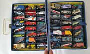 Vintage Lot Of 48 Matchbox, Lesney Cars And Collectors Case