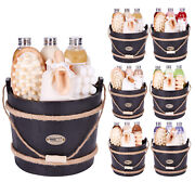 Brubaker Wooden Pail Bath And Body Gift Set For Her Ladies Women 9 Pcs.