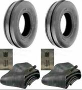 Two 400x19 4.00-19 400-19 F2 Triple Rib Ford 2n 9n Front Tractor Tires W/tubes
