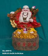 Big Feng Shui Buddha Water Fountain With Running Crystal Ball And Led Light