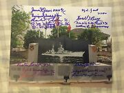 14 Uss Indianapolis Survivors Signed 8x10 Photo Wwii Autographed