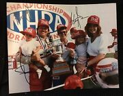 Ashley Brittany And John Force Signed 8 X 10 Photo Nhra Funny Car