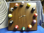 Billiard Ball Clock With Formica Base Balls Not Real