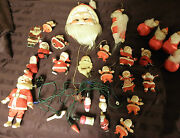 Lot Vintage Christmas Holiday Victorian Lights And Santaand039s Galore 00101010
