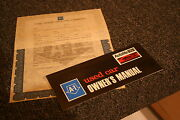 Nos 1969 Mustang,torino,truck Autolite Used Car Warranty Manual And Contract A-1