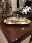 Vintage Oneida Classic Butter Dish With Glass Insert
