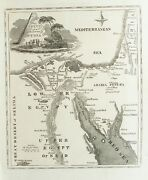 Old Antique Map Egypt Syria Middle East Petra Jordan C1816 Engraving