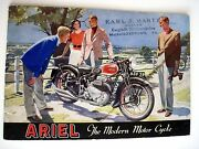 Fantastic 1940 Advertising Catalog For Ariel Motorcycles W/ Great Pictures