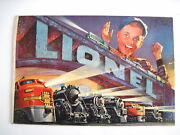 Fantastic 1952 Lionel Train Catalog W/ Excitied Boy On Cover W/ Train Display
