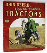 Vintage 1938 John Deere Tractors Catalog Colored Pictures And Specifications