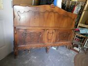French Reproduction Antique Queen Bed Head And Footboard Shabby To Chic 003001010