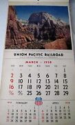 1958 Union Pacific Railroad Calendar Has Beautiful Pictures Of The West