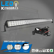 52and039and039 Inch Curved Led Light Bar Spot Flood Combo Offroad Driving Roof Truck 4wd