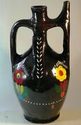 New Handmade Antique Country Clay Pitcher Jug Traditional Rustic Pottery Folk.