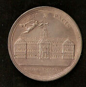1763 Peace Of Paris,betts 446, 45mm,silver, Vf+, By Oexlein, French And Indian War