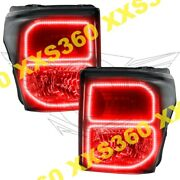 Oracle Halo Headlights Black For Ford F250/f350 11-16 Red Led Angel Eyes