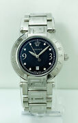 Versace Reve 68q99d009s099 Stainless Steel Black Dial Womenand039s Watch