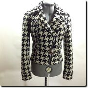 Express Black And White Zippered Jackets Outerwear Small