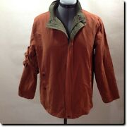 Pippy Italian Reversable Green And Orange Jackets Outerwear M