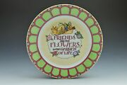 Mary Engelbreit Enesco Plate 8 Friends Are The Flowers In The Garden Of Life